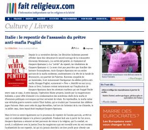 Italie: le repentir de l'assassin du prêtre anti-mafia Puglisi - fait religieux - 21-11-2013