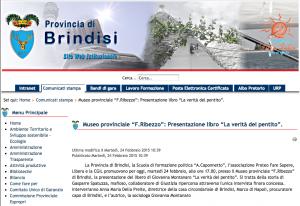 La Verità del Pentito - Provincia di Brindisi - 24 02 2015