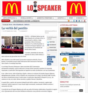 La Verità del pentito - Napoli - 14 ottobre 2014 - Lo Speaker