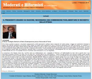 Nicola Tranfaglia - Moderati e Riformisti - Venerdì 22 Novembre 2013