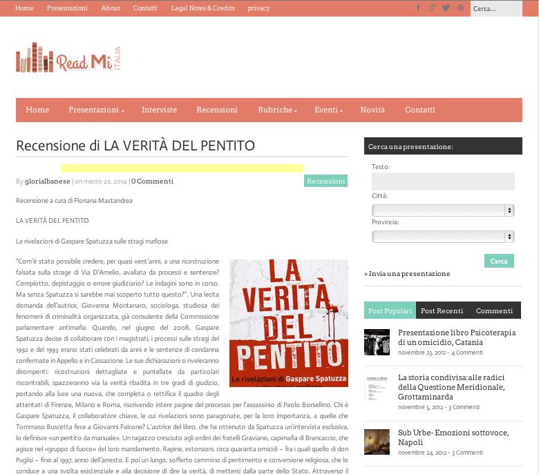 La Verita del Pentito - Read Mi Italia 22 03 2014
